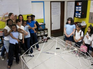 Finished geodesic dome!